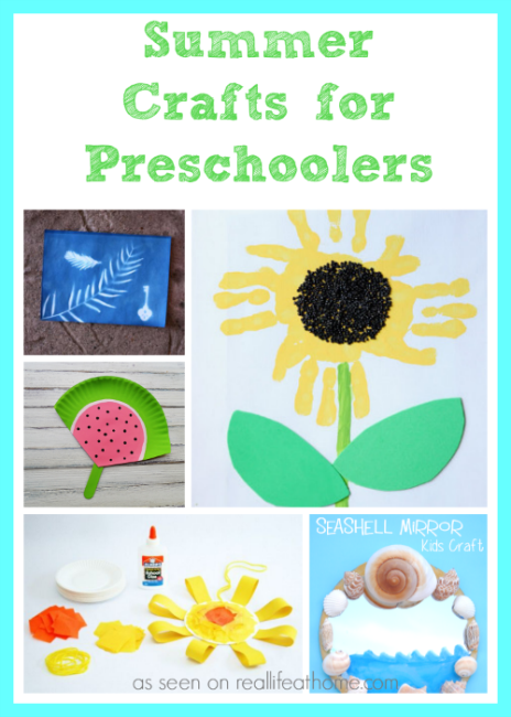 summer activities for toddlers and preschoolers summer crafts for preschoolers real at home 972