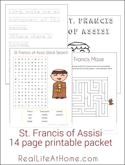 Prayer of st francis printable bing for St francis of assisi printable coloring page