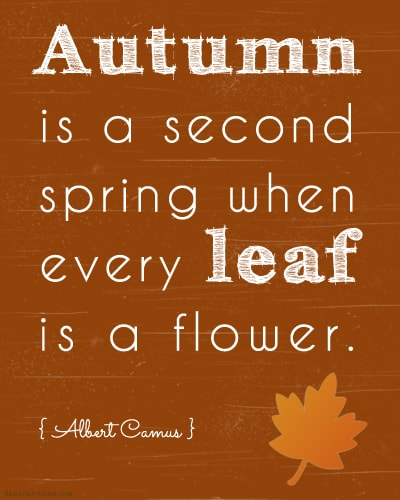 Autumn is a Second Spring Art Printable (in Brown)