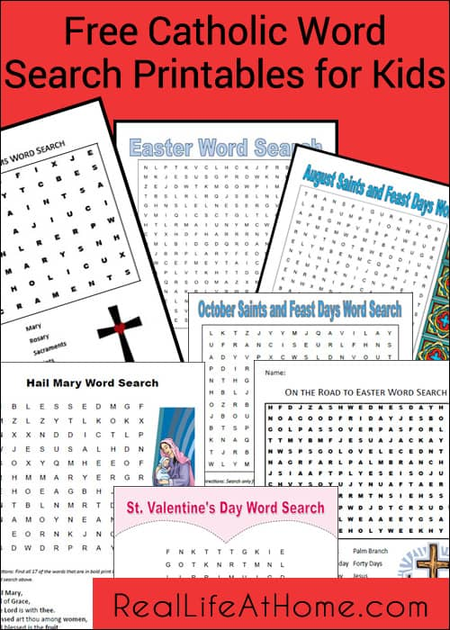 Free Catholic Word Search Printables for Kids