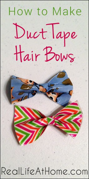 How to Make Duct Tape Hair Bows | RealLifeAtHome.com