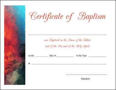 Free Printable Baptism First Communion and Confirmation Certificates – Certificates Free Download Free Printable