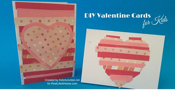 Easy DIY Valentine Cards for Kids Real Life at Home – Kids Handmade Valentine Cards