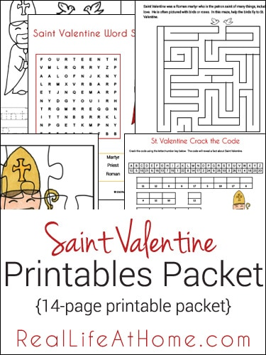 Saint Valentine Printables Packet
