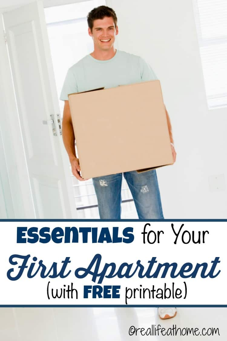 Essentials for Your First Apartment {Plus a First Apartment Checklist}