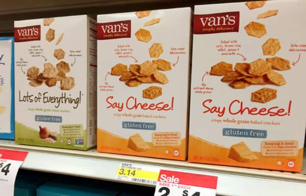 Shopping for Van's Gluten Free Crackers at Target