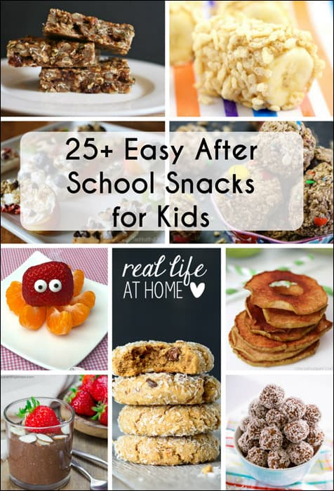 25 easy after school snacks for kids real life at home