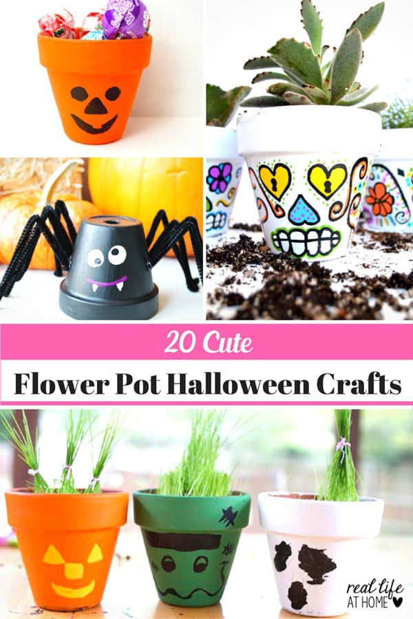 Looking for an inexpensive and easy Halloween craft idea? Here are 20 super cute Flower Pot Halloween Crafts!