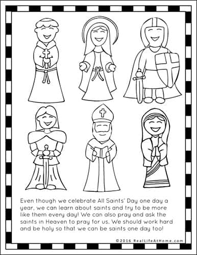coloring saints pages for kids - photo#23