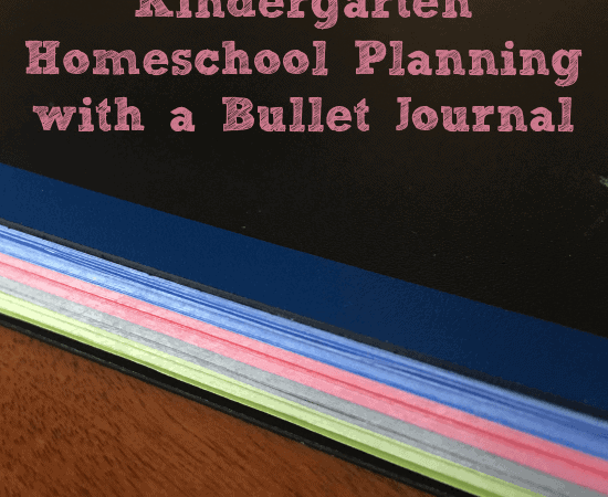Kindergarten Homeschool Planning with a Bullet Journal