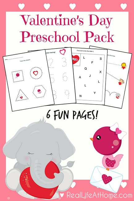 valentines day cards preschool six page packet s day printables for preschoolers 334