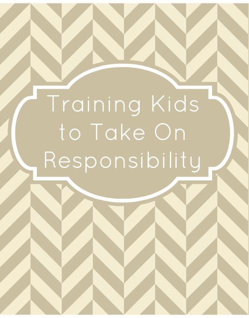 Training Kids to Take On Responsibility