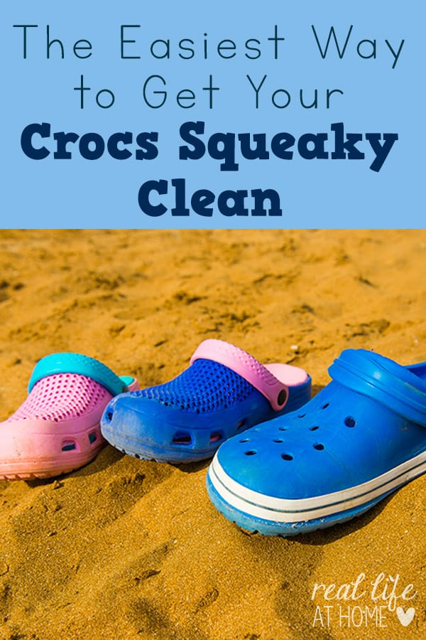 Tip for getting your Crocs clean in the washing machine
