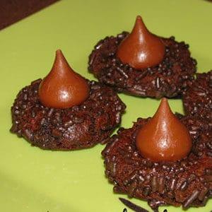 super duper chocolate kiss cookies