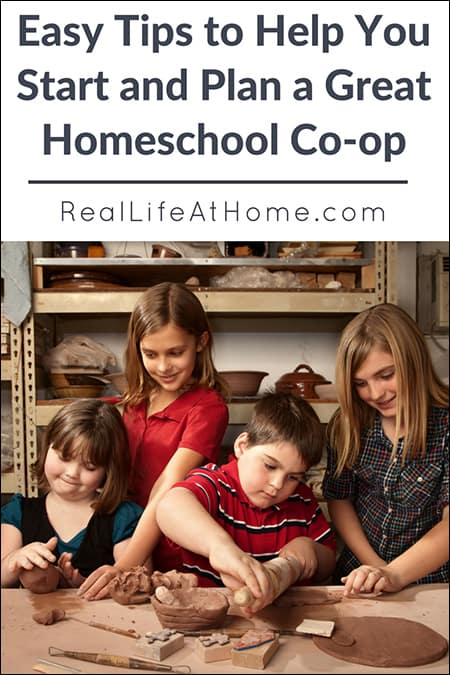 Thinking of starting a homeschool co-op? Here are easy tips for how to start a homeschool co-op. | Real Life at Home