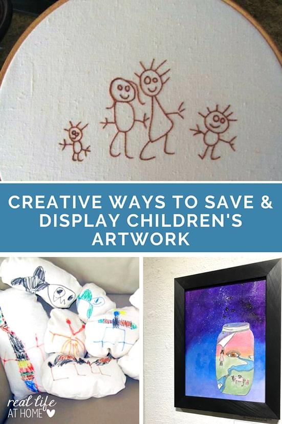 Creative Ways to Save and Display Children's Artwork : Wonderful ways to make your children's artwork into keepsakes