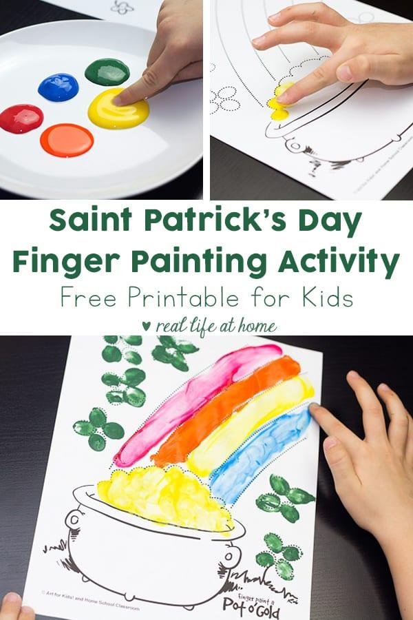 Saint Patrick's Day Finger Painting Activity