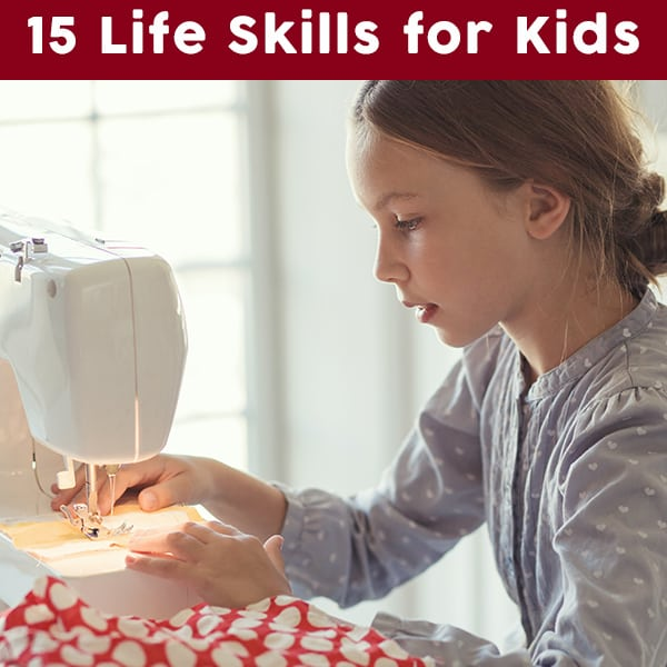 Not sure what skills your children may need before they're grown? Here are 15 groupings of life skill in a list of life skills for kids to work toward. This post includes questions to ask yourself to help guide you through what life skills you need to work on with your kids.