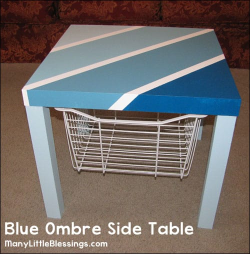 DIY blue ombre side table