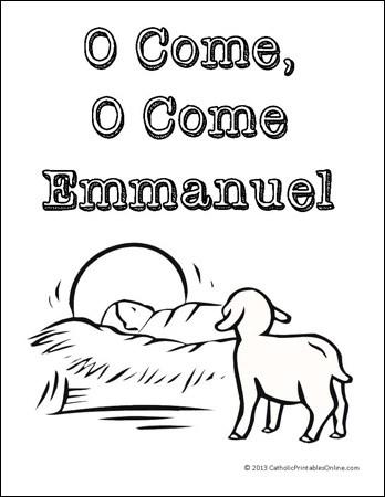 O Come, O Come Emmanuel Coloring Page