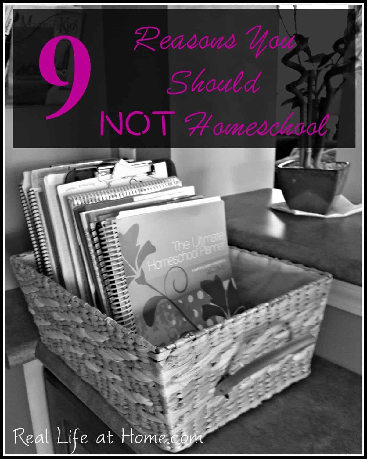 9 Reasons You Should Not Homeschool