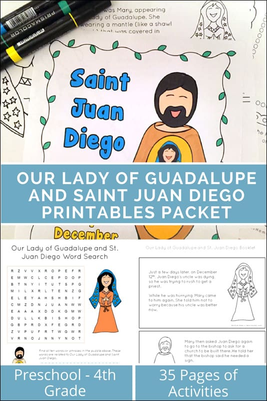 Our Lady of Guadalupe and Saint Juan Diego Printables Packet