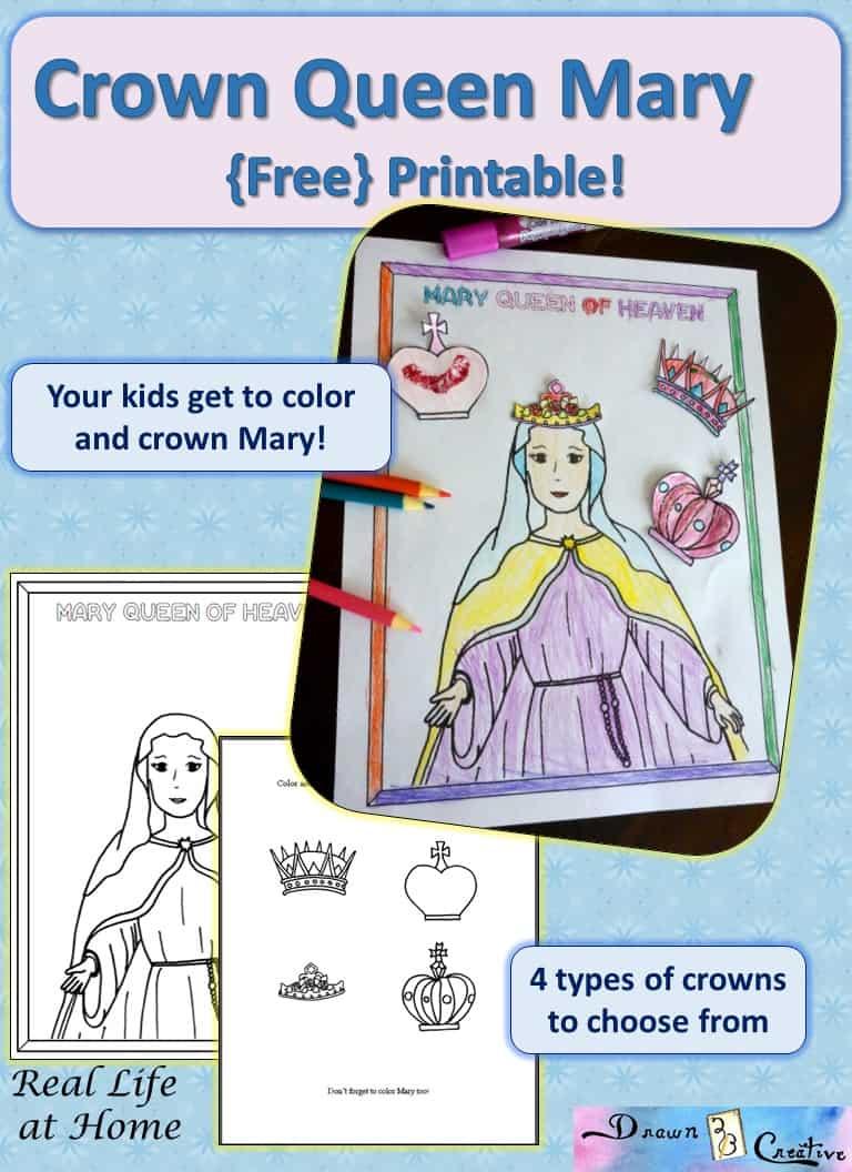 Mary Queen Of Heaven Printable Activity