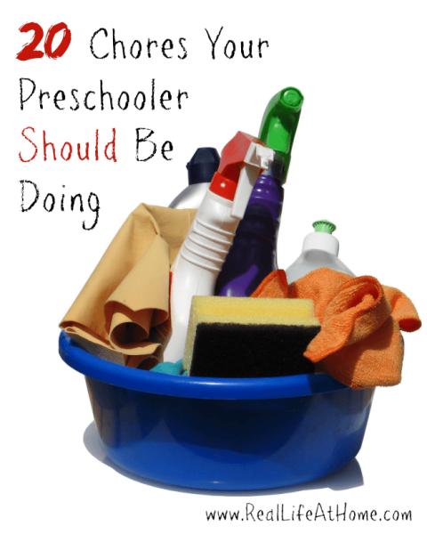 20 Chores Your Preschooler Should Be Doing