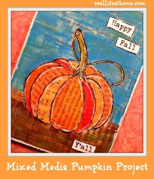 Mixed Media Pumpkin Project