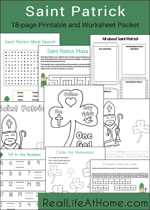 Saint Patrick Printables Packet