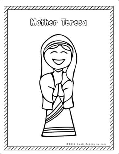 Mother Teresa Printables Packet - Real Life at Home