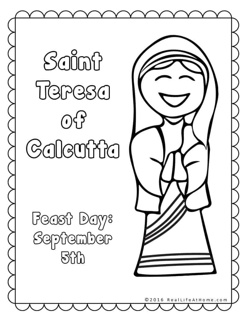 Saint Teresa of Calcutta Printables Packet - Real Life at Home