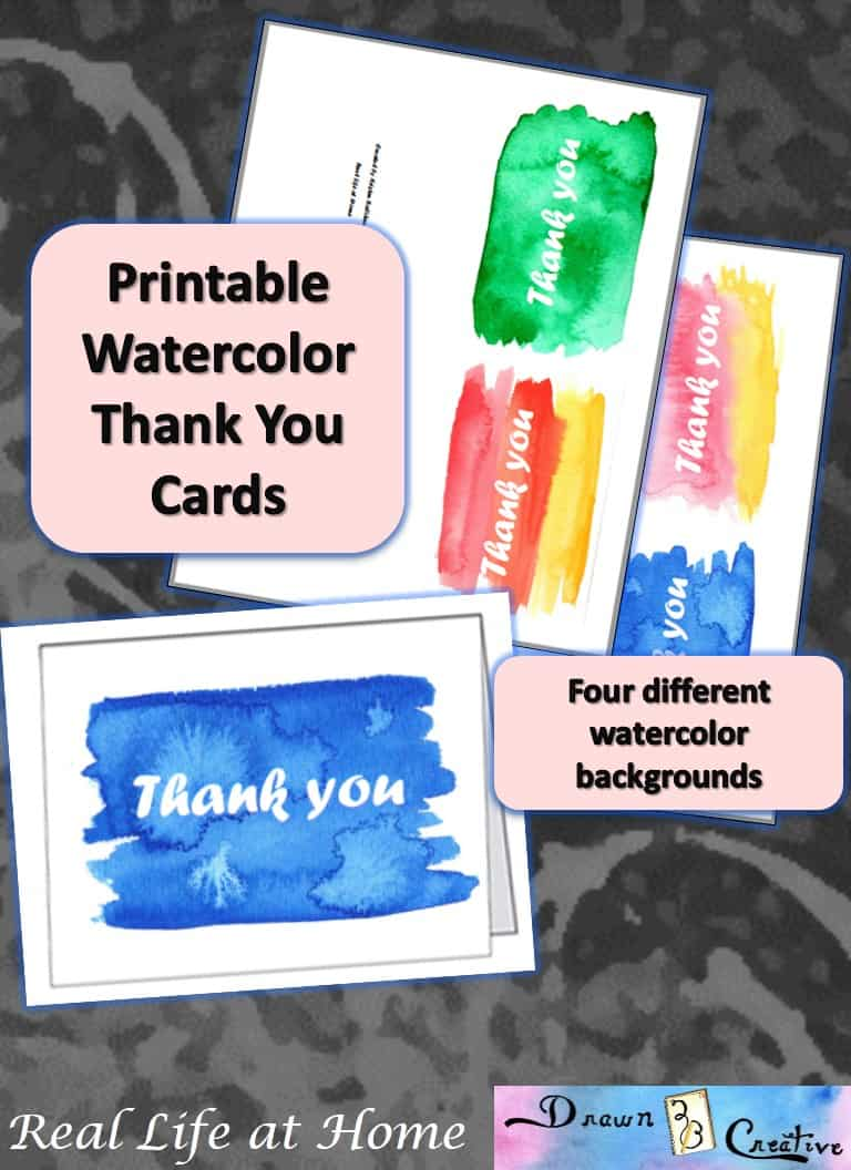 Free Printable Watercolor Thank You Cards