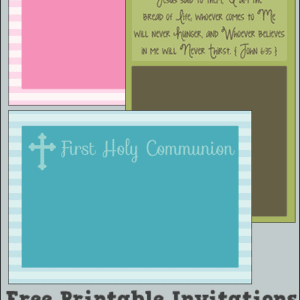 Free Printable Religious Invitations - Perfect for Confirmation, First Communion, Baptism, and More! (Multiple Designs in a Variety of Color Choices)