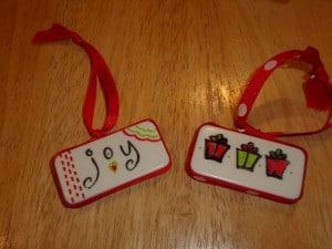 Domino Christmas Ornament Craft