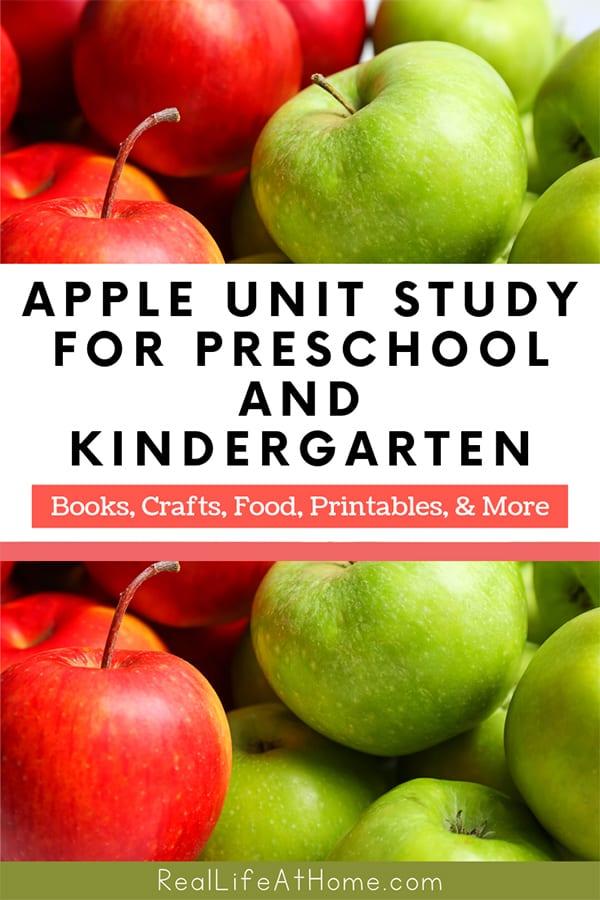 Apple Unit Study for Preschool and Kindergarten