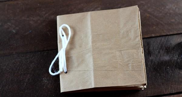 Paper Bag Album Assembly - Step 7