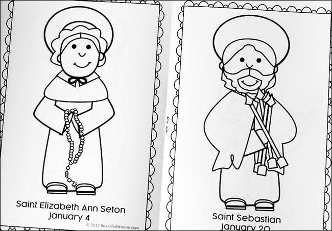 Free Printable January Saints Coloring Book for Catholic Kids
