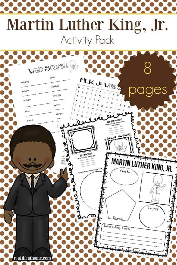 Martin Luther King Jr. Worksheets Packet {Free Printables}