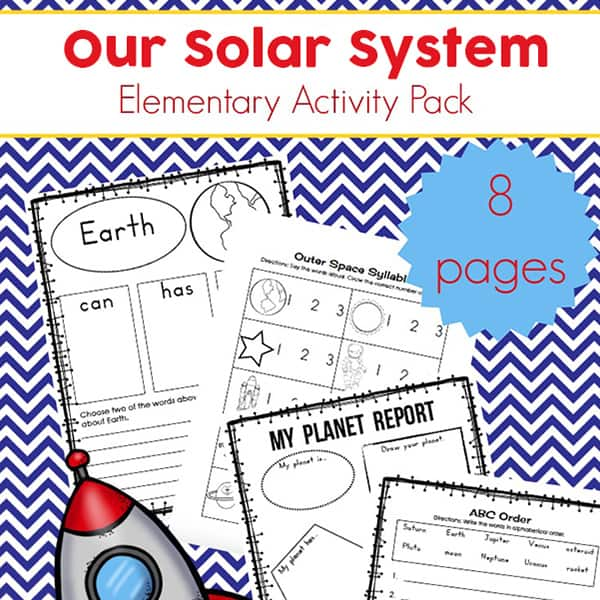 Free Solar System Printables for Elementary Students