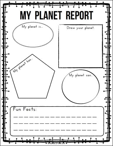 Our Solar System - Planet Report Worksheet {from the Free Solar System Printables Packet on Real Life at Home}