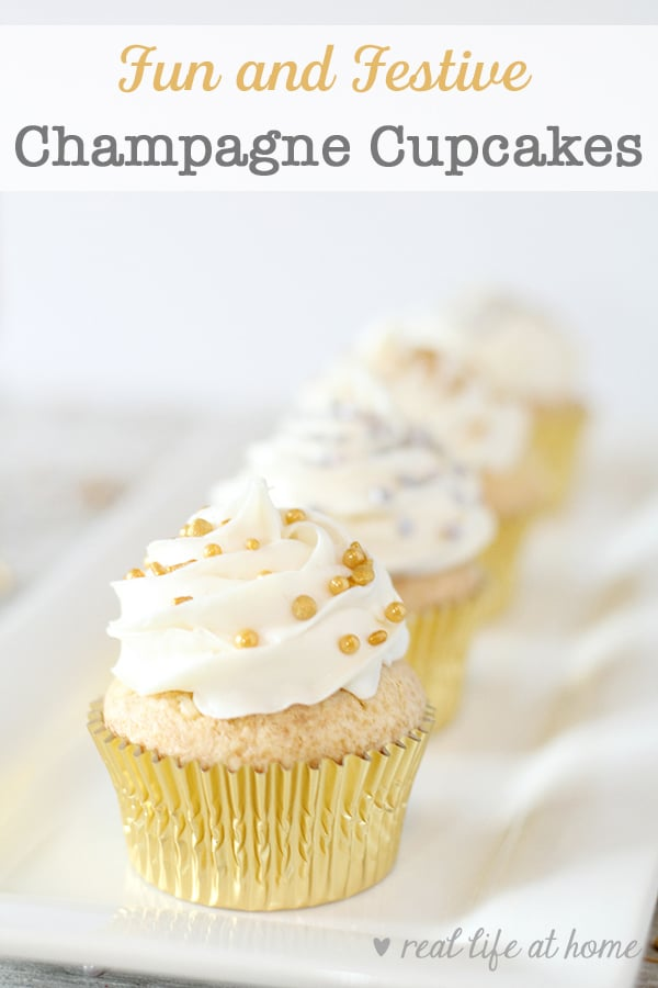 How to Make Champagne Cupcakes with this easy Champagne Cupcake Recipe with Buttercream Frosting