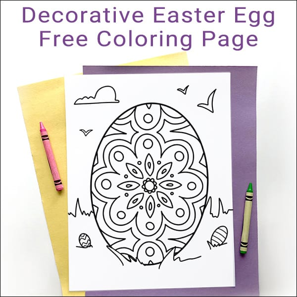Decorative Easter Egg Coloring Page for Kids and Adults - Free Download from Real Life at Home