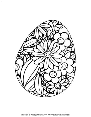 Easter Egg Coloring Pages (Free Printable Easter Egg Coloring Book)