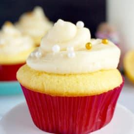 Lemon Cupcake Recipe with Lemon Glaze and Lemon Buttercream Frosting