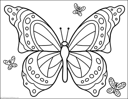 Free Printable Butterfly Coloring Page For Kids And Adults