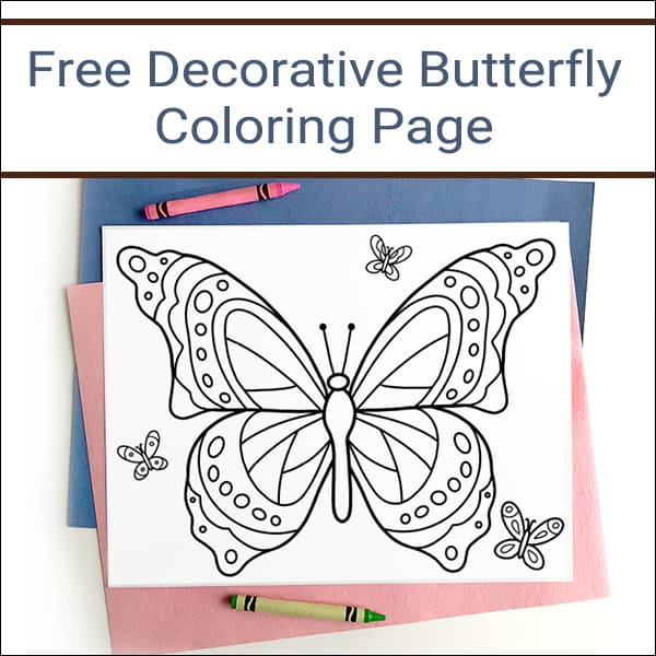 Butterfly Coloring Page - Free Printable