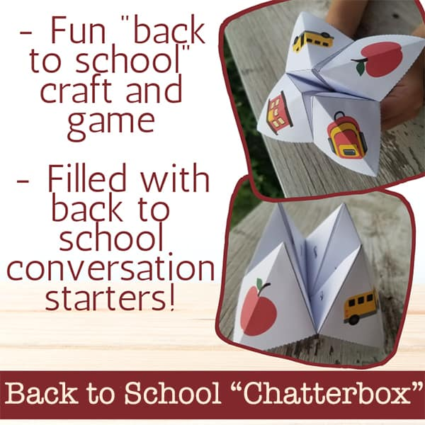 Enjoy some back to school ice breakers and conversation starters with this free printable back to school fortune teller (or cootie catcher) for kids
