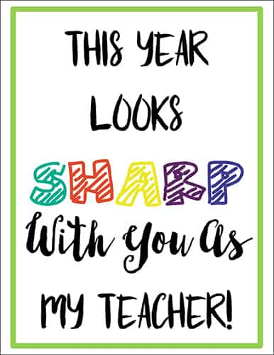 Back to School Teacher Gift Tag for Sharpie Markers