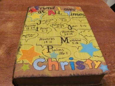 Bible cover craft